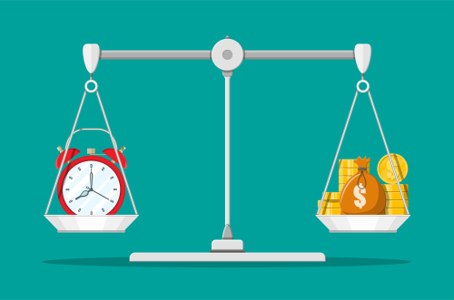 Financial scales by Abscent shutterstock_1233901597
