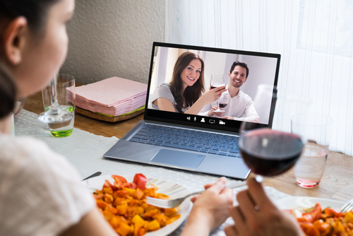 virtual dinner party by Andrey_Popov shutterstock_1706921065